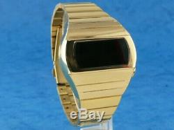 GOLD KOJAK TELLY SAVALAS 70s Old Vintage Style LED DIGITAL Rare Retro Watch