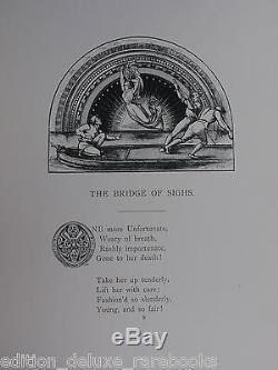 GUSTAVE DORE Rare 1870 FOLIO Thomas Hood PHOTO ILLUSTRATION Antique Old Book VTG