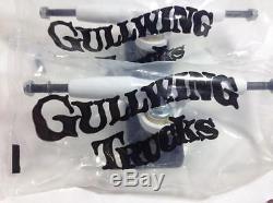 Gullwing trucks Sidewinder 8.5 New Old Stock 1980's Skateboard Trucks WHITE