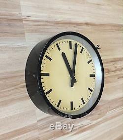 IBM Industrial Modernist Wall Medium Clock Bauhaus Vintage old