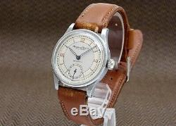 IWC Schaffhausen Old Inter Cal. 83 1940s Vintage St. Steel Hand winding Mens Watch