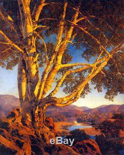 Maxfield Parrish Old White Birch 22x30 Hand Numbered Ltd. Edition Art Deco Print
