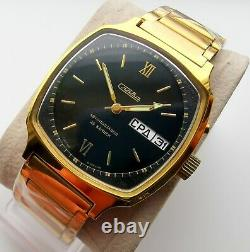 New Automatic Old Stock Vintage Slava 2427 Double Calendar Watch