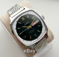 New Automatic Ussr Made Old Stock Slava 2427 Double Calendar Watch