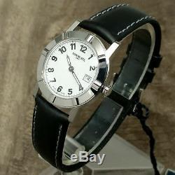 New Old Stock $795 Ladies Raymond Weil W1 Date Black/White 30mm Swiss Watch 3030
