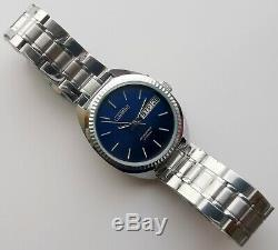 New Old Stock Ussr Made Slava 2427 Double Calendar Watch! Rare Model