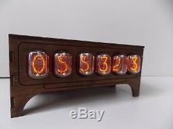 Nixie tube clock IN-12 table desk retro old vintage clock for bedroom by JTNlab