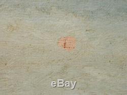 OLD antique Listed Artist Fine Art OIL PAINTING vintage Carved Picture FRAME $$