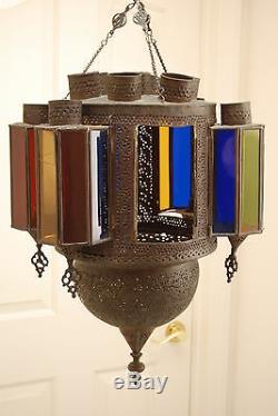 Old Antique Lantern Vintage Oil Kerosene Islamic Hanging Gwtw Lamp Chandelier