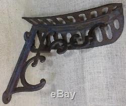 Old Saddle Rack Holder Bracket Harness Tack Hook seat cast iron vintage 1800's