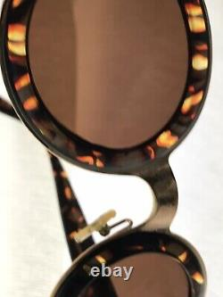 Old VTG Christian Dior CD2037 41A 28 130 Faux Turtleshell Round Sunglasses CD