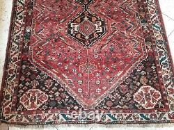 Old Vintage Carpet þersian Handmade Rug 8 x 5.2 ft