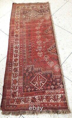 Old Vintage Handmade þersian Carpet Rug, 6.7 x 5.4 ft