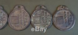 Old Vintage Korean Undercover Law Officer Badge Iron MaPae Compete Set of 5