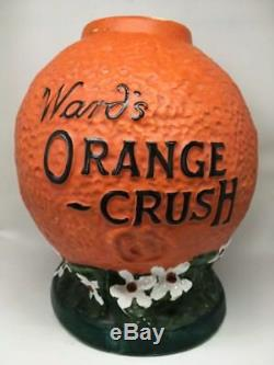 Old Vintage Ward's Orange Crush Syrup Soda Fountain Dispenser Rare Antique pump