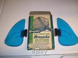 Original 1940' s 1950' s Vintage nos Accessory Supar Vent Window BREEZIES with box