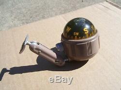 Original 1950' s Vintage Airguide auto accessory compass gauge Rat Hot rod scta