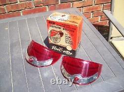 Original 1950s nos Headlight Visorettes Vintage GM Chevrolet Ford Harley parts