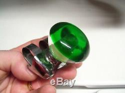 Original 1960' s nos green Vintage Rat Hot rod Steering wheel knob gas oil grip