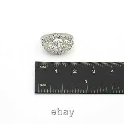 Platinum Antique Stunning 1.76 Ctw Old European Diamond Ring Size 5.75 #j882-1
