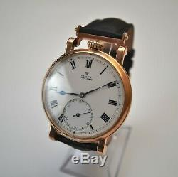 Rolex antique solid gold pilots military old WWII vintage mens watch bubbleback