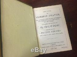 The Book of Common Prayer 1872 Antique Old Vintage 1800s (Bible) Leather Brass