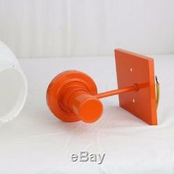 VTG Lightolier Orange Sconce Light Fixture New Old Stock White Globe 1970s Retro