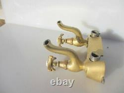 Victorian Brass Sink Mixer Taps Spout French Bath Basin Old Antique Vintage