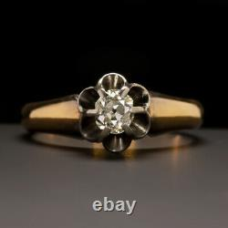Victorian Old Mine Cut Diamond Engagement Ring Antique Vintage Solitaire Gold