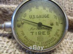 Vintage 1900s US Gauge Co Tire Pressure Gauge Antique Old Auto RARE 8705