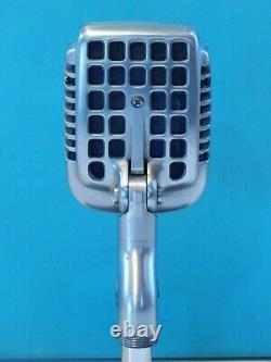 Vintage 1950S Shure 737A Microphone & Desk Stand Old Deco Antique Shure Prop USA
