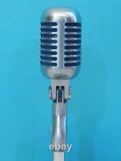 Vintage 1961 Shure 55S Microphone And Stand Deco Antique Old Elvis Prop Astatic