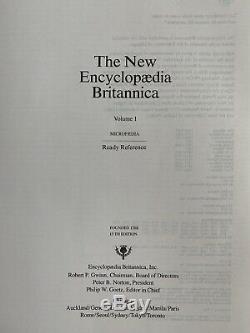 Vintage 1990 Encyclopedia Britannica 15th Edition 35 Black Books Old Antique Vtg