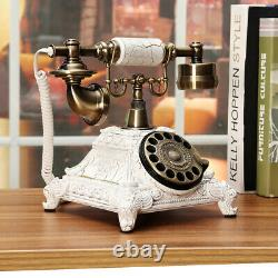 Vintage Antique Style Old Fashioned Push Button Rotate Dialing Dial Telephone