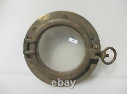 Vintage Brass Porthole Window Ship Old Nautical Marine Maritime Antique 9.5W