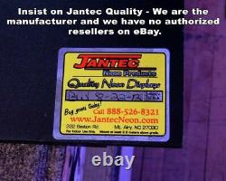 Vintage Clothing Neon Sign Jantec 32 x 16 Thrift Store Used Antique Old
