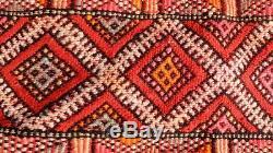 Vintage Moroccan Berber Rug -Old Style Kilim-Kilim Rug Flat Woven- 7'10''/ 5'8'