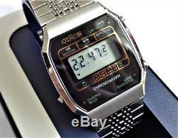 Vintage Otron LCD New Old Stock Split Chronograph Digital Men's Wristwatch