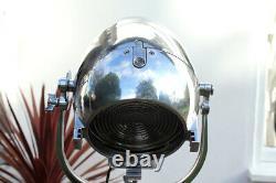 Vintage Strand 123 23 Theatre Light Film Industrial Lamp Old Stage Steel Tripod