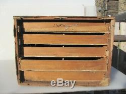 Vintage Wooden Chest of Drawers Chest Mid Century Art Deco Old 16W