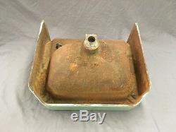 Vtg Mid Century Art Deco Jadeite Green Porcelain Old Cast Iron Bath Sink 613-18E