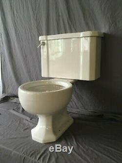 Vtg Mid Century Complete Art Deco Toilet Old Vtg Kohler Wellworth White 109-19E