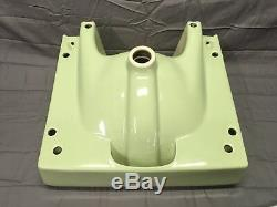 Vtg Retro Mint Jade Ceramic Bath Sink Chrome Legs Old Plumbing Fixture 791-17E