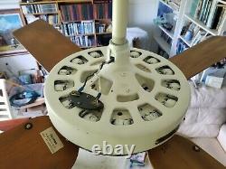 100 Ans Hunter C17 Antique Electric 52 Ventilateur De Plafond-vintage-restauré-musée
