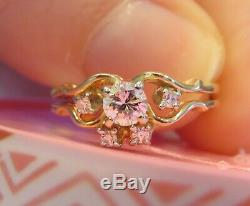 14k Antique Vintage Art Deco Old Cut Vs Diamant De Fiançailles De Mariage Bague Set