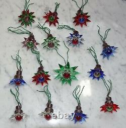 15 Old Matchless Verre Étoiles, Lumières D'arbre De Noël, Ca. 1930 (numéro 13810)