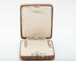 1920 Antique 7000 $ 8ct Ancienne Mine À Diamant Bleu Saphir Boucles D'oreilles Platine