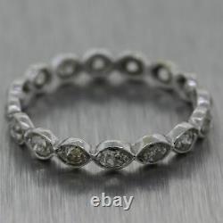 1920 Antique Art Déco Platinum 1ctw Old Mine Cut Diamond Band Ring