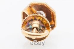 1930 Antique Art Déco. 50ct Ancienne Mine D'or À Diamant Boucles D'oreilles Fond À Écrous