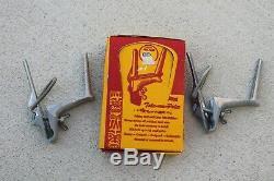 1940 Original De 1950' S Nos Accessoires Vintage Porte-canne À Pêche Boîte Automatique Fourre-tout